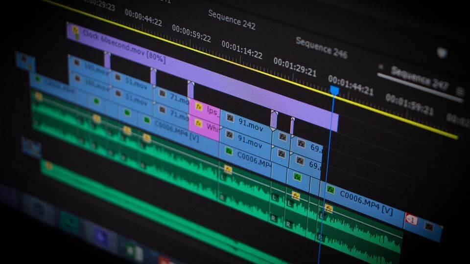 ilustrasi komputer edit video